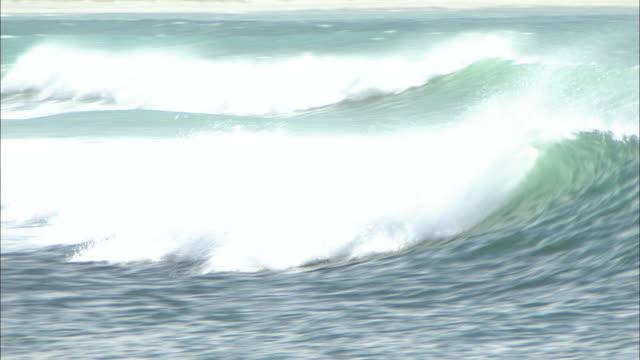 new zealand; southern alps; tasman sea - audio disponibile sulla versione digitale video stock e b–roll