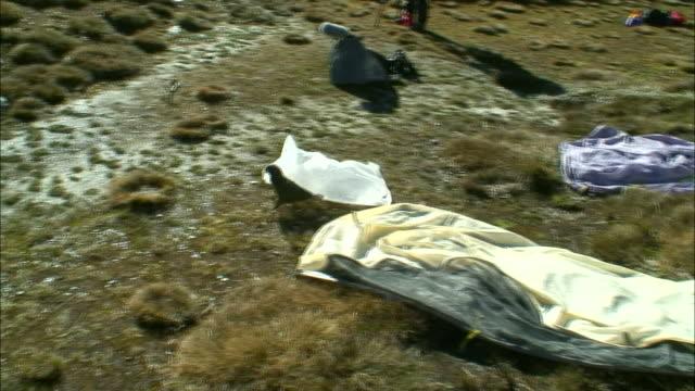 vidéos et rushes de new zealand; southern alps - snowcapped mountain