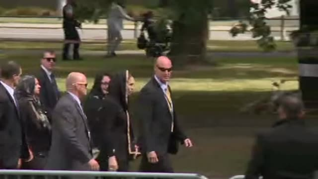new zealand's prime minister jacinda ardern leaves after a two minute silence honoured the 50 muslim worshippers killed one week ago in christchurch - prime minister video stock e b–roll