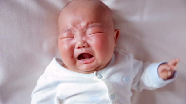 newborn baby crying - complaining stock videos & royalty-free footage