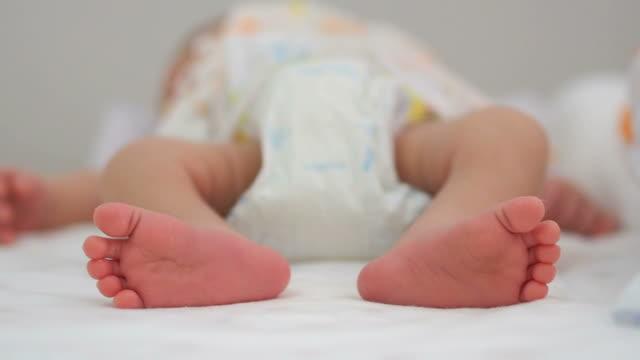 newborn baby feet - human toe stock videos and b-roll footage