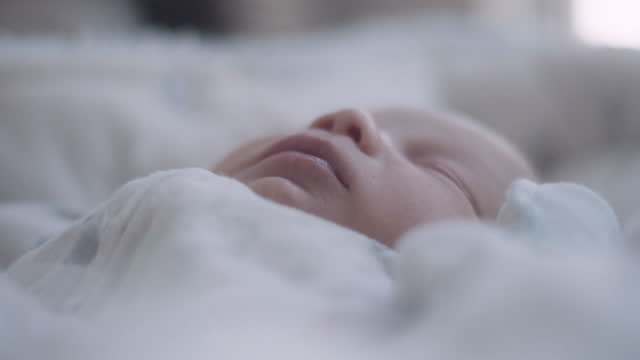 newborn baby in bassinet - one baby boy only stock videos & royalty-free footage