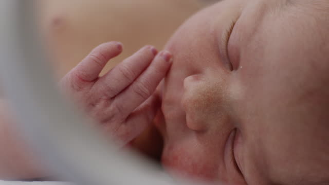 ECU PAN Newborn baby (0-1 months) sleeping / Payson, Utah, USA