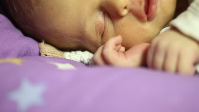 newborn baby sleeping - menschliches gesicht stock videos and b-roll footage