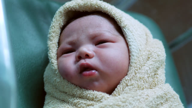 newborn baby - baby girls stock videos & royalty-free footage