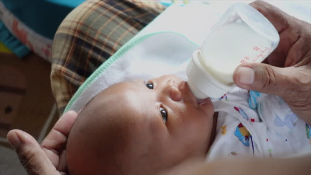 newborn baby - baby bottle stock videos & royalty-free footage