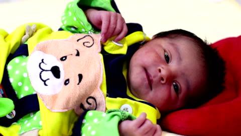newborn baby - video portrait stock videos & royalty-free footage