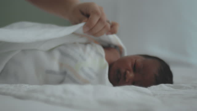 newborn baby - baby blanket stock videos & royalty-free footage