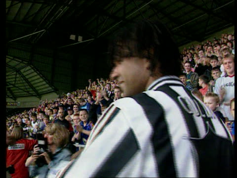 euro 2000 squad lib gullit welcomed by newcastle fans after being appointed new manager - euro 2000 stock videos & royalty-free footage
