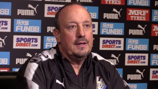 Newcastle manager Rafael Benitez speaking at his prematch press conference on Friday ahead of Saturday's Premier League clash with Stoke