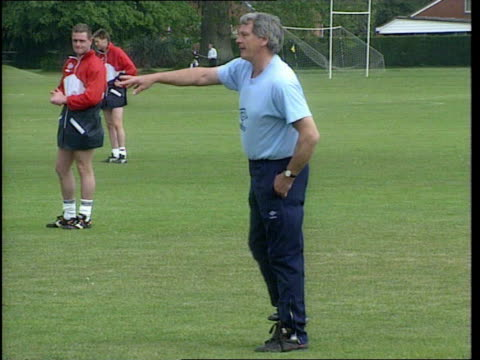 bobby robson; newcastle united: bobby robson; lib 24.5.1990 berkshire: bisham abbey: bobby robson along during training session - 1990 1999 stock videos & royalty-free footage