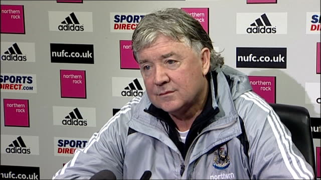 newcastle united press conference england newcastle int joe kinnear press conference sot on impact of international duties on newcastle squad on... - international match stock videos & royalty-free footage