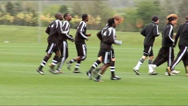 Newcastle United training shots Generic training shots Newcastle Manager Alan Shearer
