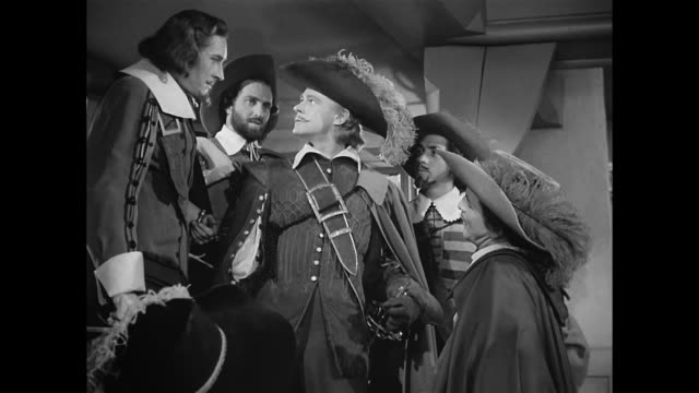 a newcomer (william prince) is warned about speaking of cyrano de bergerac's nose - 17th century style stock videos & royalty-free footage