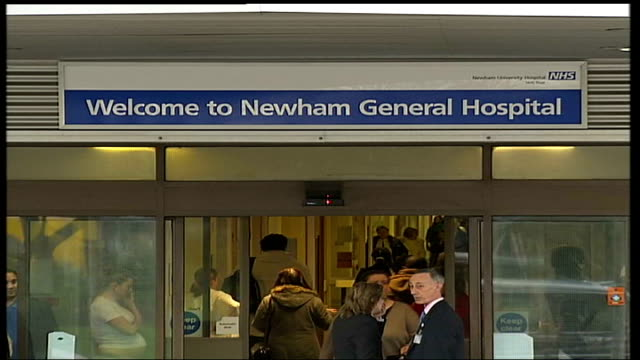 newham hospital ward closed due to mice infestation england london newham ext taxi parked outside entrance to newham general hospital sign above... - infestation stock videos & royalty-free footage
