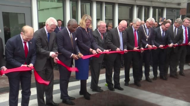 Newly appointed US ambassador to the Netherlands Peter Hoekstra opens the new US embassy building in The Hague saying the State Department got a good...