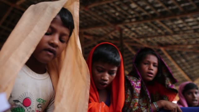 cox's bazar bangladesh october 05 newly arrived rohingya children fled from oppression within ongoing military operations in myanmar's rakhine state... - military school stock videos and b-roll footage