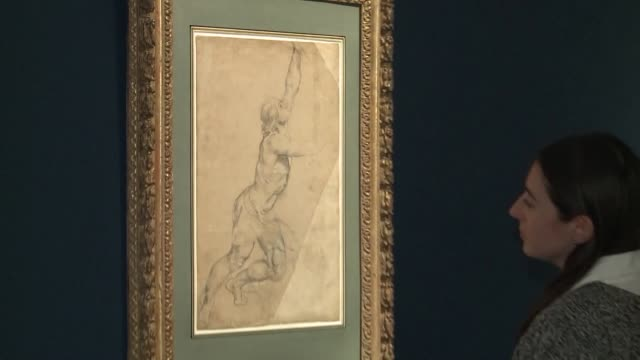 newly discovered work by raphael as well as a rare drawing by rubens lead a sotheby's sale of old master drawings in new york city on january 30 - raphaël haroche stock videos and b-roll footage