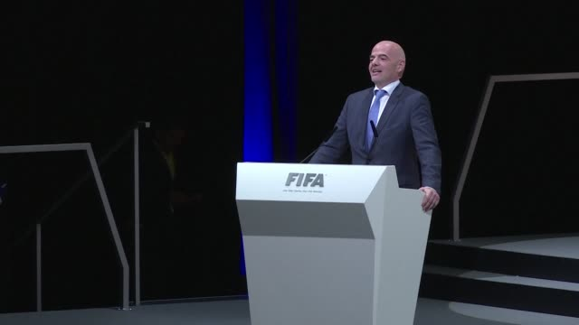 newly elected fifa president gianni infantino who on friday won the vote to succeed the disgraced sepp blatter as head of world footballs governing... - fifa stock videos & royalty-free footage