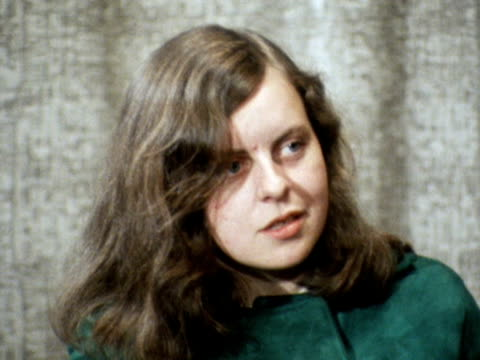 newly elected mp, bernadette devlin talks about the issue of british troops in northern ireland. - northern ireland stock videos & royalty-free footage