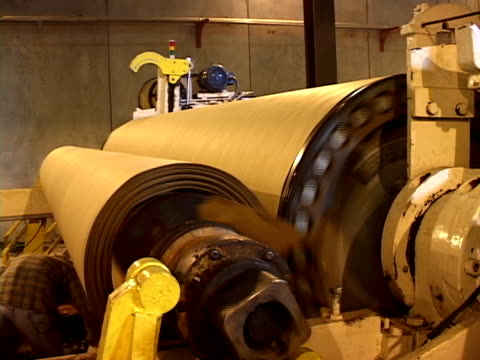 newly recycled paper - paper mill stock videos & royalty-free footage