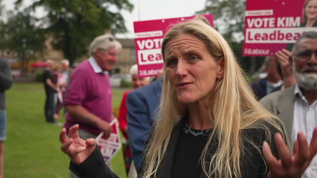 """newly-elected kim leadbeater saying """"we focus on things we disagree on rather than things that matter to us all"""" after victory in the batley and spen... - determination stock videos & royalty-free footage"""