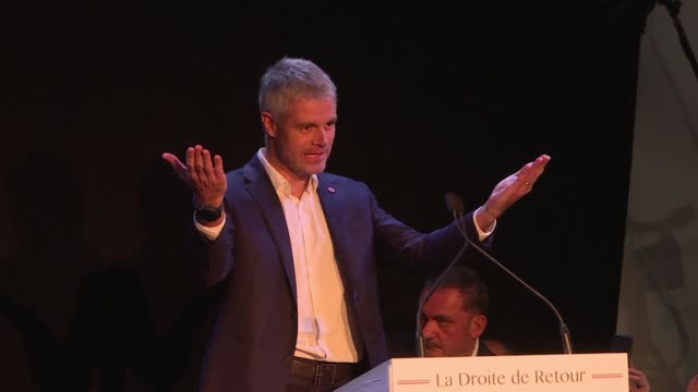 Newlyelected president of France's conservative Republicans party Laurent Wauquiez says the right is back after the announcement that he won the...