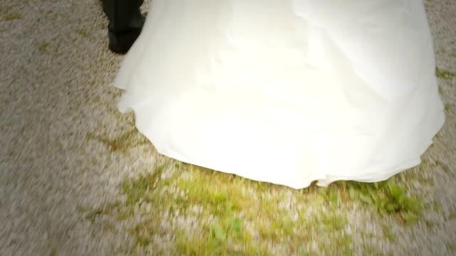 hd: newlyweds walking - bridegroom stock videos & royalty-free footage