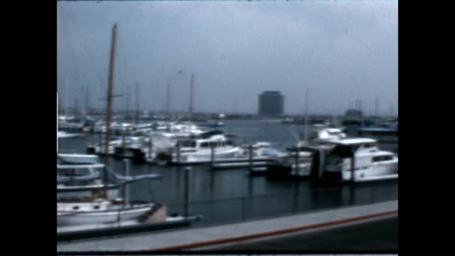 Newport beach and Marina in the late 1960's
