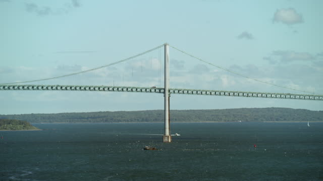 newport bridge in newport rhode island - middlesbrough stock videos and b-roll footage