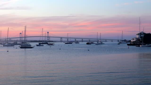 vidéos et rushes de port de newport  - rhode island