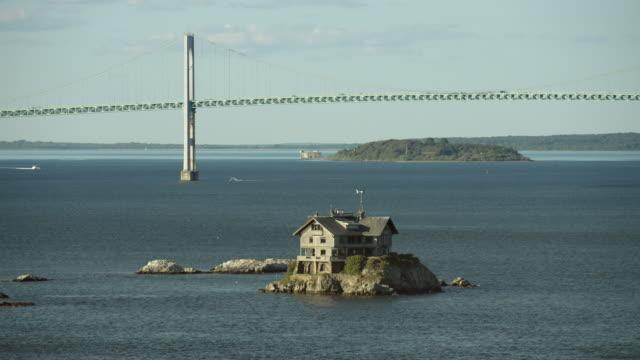 Newport Rhode Island's Clingstone House And Bridge