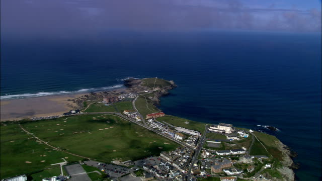Newquay - Aerial View - England, Cornwall, Newquay, United Kingdom