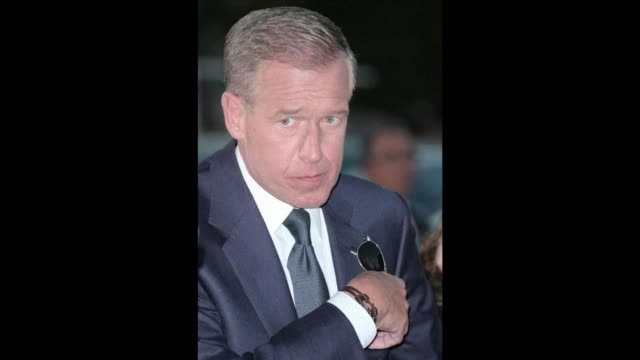 us news anchor brian williams was suspended 6 months without pay by nbc news after it became apparent that stories he had told on air were untrue - brian williams newscaster stock videos & royalty-free footage