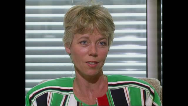 news at one pab; england: london: gir: int live studio presenters sonia ruseler and nicholas owen to camera sot - manchester: ext diana, princess of... - itv news at one stock videos & royalty-free footage