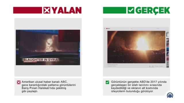 vídeos y material grabado en eventos de stock de news channel abc has been busted after it shared a scandalous shooting video over the weekend and told its viewers that it is the footage of turkey... - social media