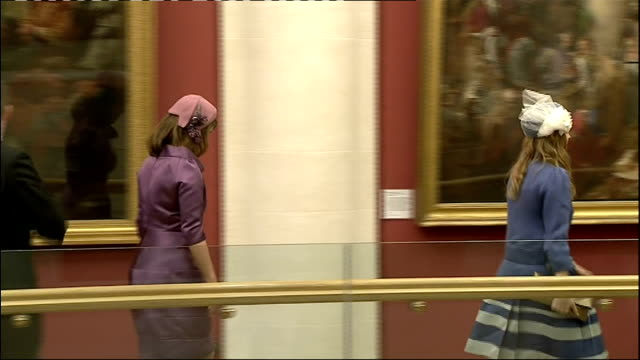international clean feed 1130 1230 the mall ext marching band along guildhall photography** princess eugenie and princess beatrice arrival at... - lady louise windsor stock videos and b-roll footage
