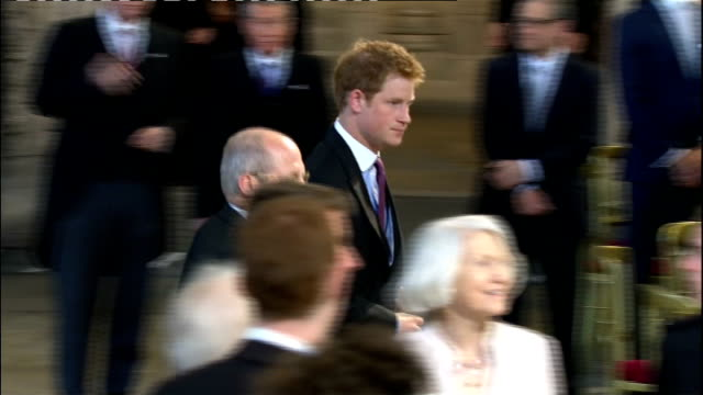 1400 1500 Toast drunk to Queen Elizabeth at Westminster Hall lunch Prince William Duke of Cambridge standing Catherine Duchess of Cambridge sitting...