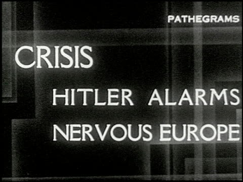 stockvideo's en b-roll-footage met news digest no 4 1 of 10 - 1938