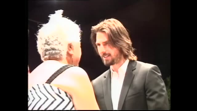 News item concerning Tom Cruise appearing at press conference following Māori pōwhiri welcome in 2003 in New Plymouth in preparation for filming of...