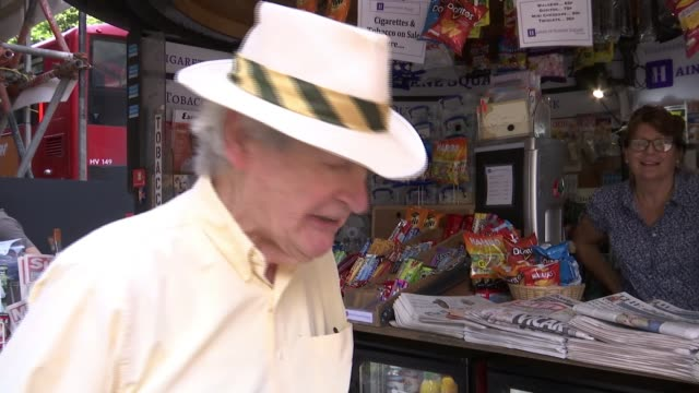 News kiosk on Sloane Square recognised as London's oldest stand ENGLAND London Sloane Square EXT Vox pop Various of Alex Bailey in kiosk Customers at...