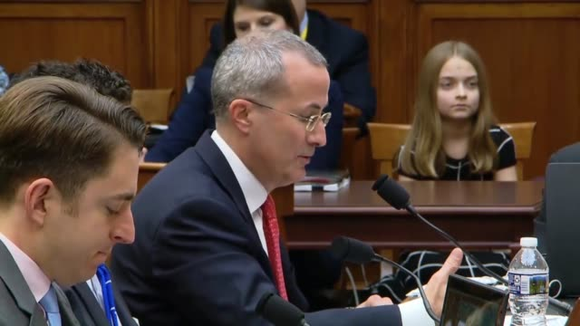 news media alliance ceo david chavern tells the house judiciary committee at a hearing on social media free speech that neither google nor facebook... - editorial stock videos & royalty-free footage