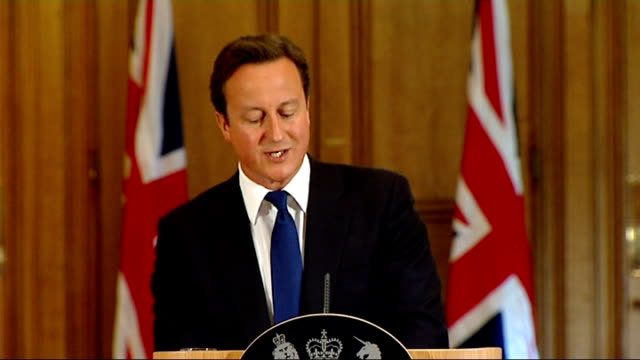 david cameron press conference cameron press conference sot this new system of regulation must strike the balance between an individual's right to... - politics and government stock videos & royalty-free footage