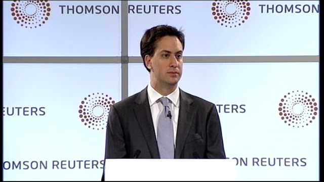 ed miliband mp speech ed miliband mp speech sot the inquiry is one place from which this reform can be led but change does not need to wait for the... - ed miliband stock-videos und b-roll-filmmaterial