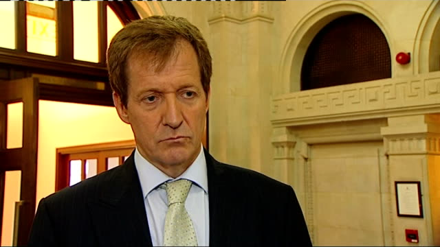 news of the world hacking scandal: interview with alistair campbell; england: london: westminster: int alastair campbell interview sot - reacts to... - politics and government stock videos & royalty-free footage
