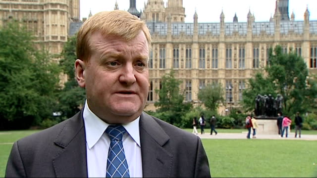 murdoch abandons bskyb bid charles kennedy interview england london westminster ext charles kennedy mp interview sot i think its a good day for... - charles kennedy stock videos & royalty-free footage
