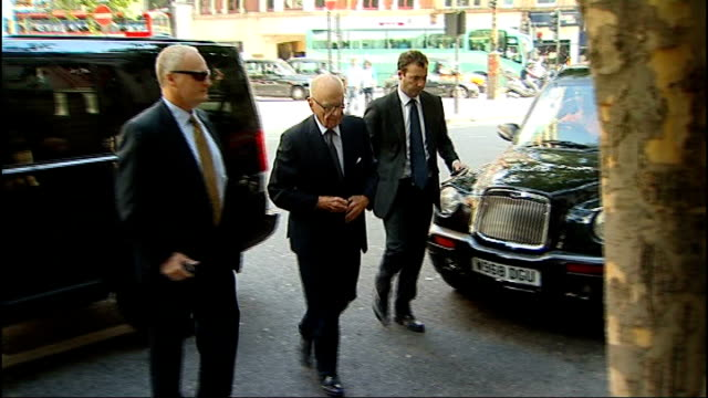 rebekah brooks arrested / fraud office begins preliminary investigation tx aldwych ext rupert murdoch arriving at hotel for meeting with the family... - aldwych stock videos and b-roll footage