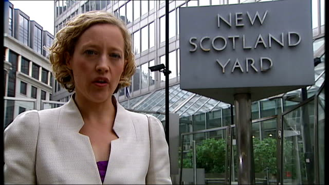 rupert murdoch to appear before select committee new scotland yard ext reporter to camera - rupert murdoch stock videos and b-roll footage