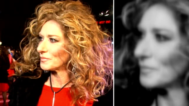 new claims that hacking continues lib kelly hoppen speaking to press on red carpet at 'valentine's day' film premiere - 盗聴点の映像素材/bロール