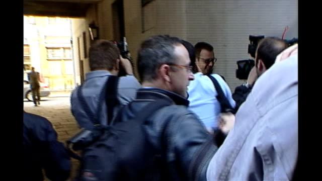 news of the world paper to close tx rebekah brooks wearing white suit leaving st brides church service - ニュースオブザワールド紙点の映像素材/bロール